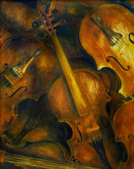 Violins (oil painting)