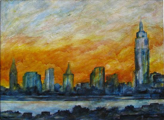 NY Skyline (Oil painting)