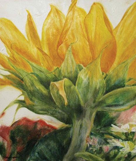 Beth's Sunflower (Oil painting)