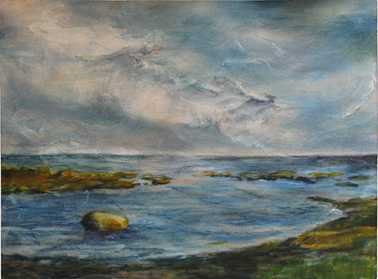 Guilford Beach (Oil painting)