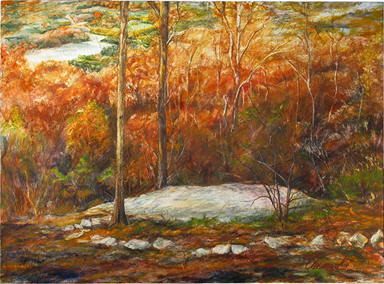 Grandpa Jonesy's Woods (Oil painting)