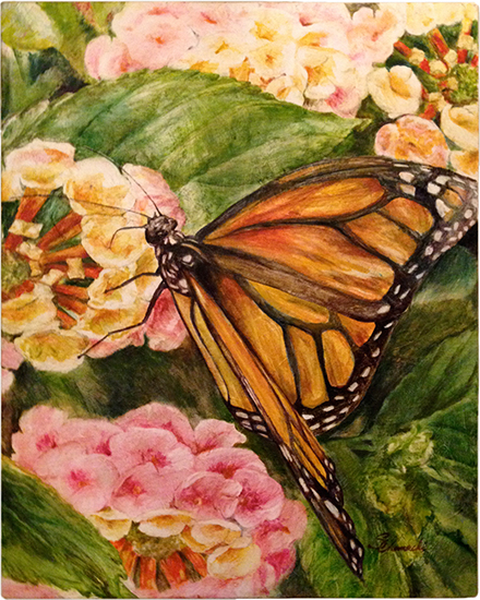 Sweet Nectar [Butterfly] (oil painting)