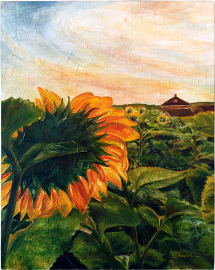 The Time Was Right / Buttonwood Farm (Oil painting)