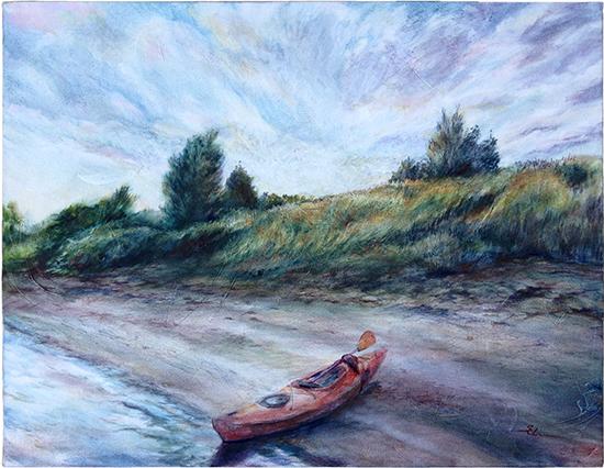 Journey Met Horizon (Oil painting)