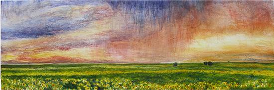 Janine's Sunflowers (Oil painting)