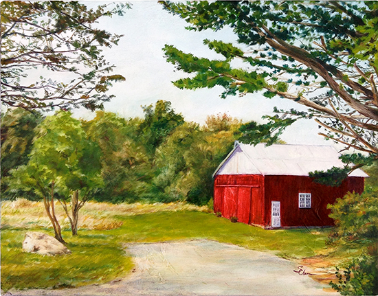 Remy's Barn (Oil painting)