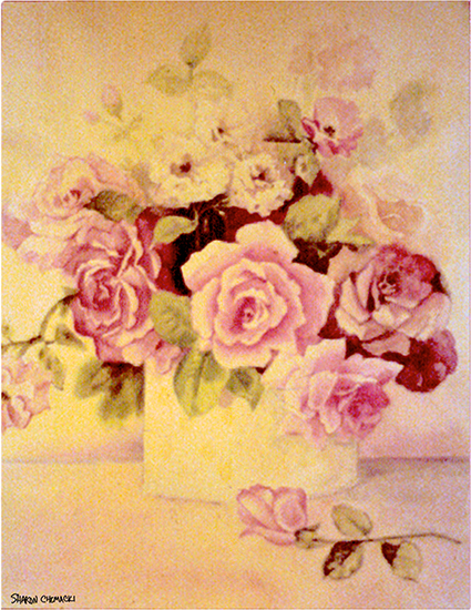 Flowers for Paula (Watercolor painting)
