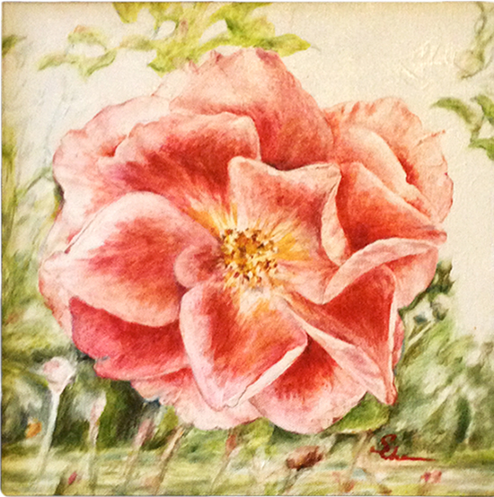 Heritage Rose 2 (Oil painting)