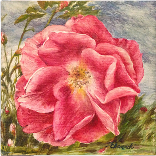 Heritage Rose 3 (Oil painting)