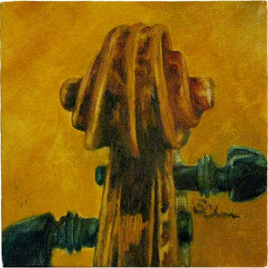 Violin Study (oil painting)
