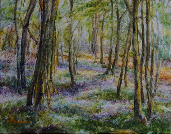 Quiet Woods (Oil painting)