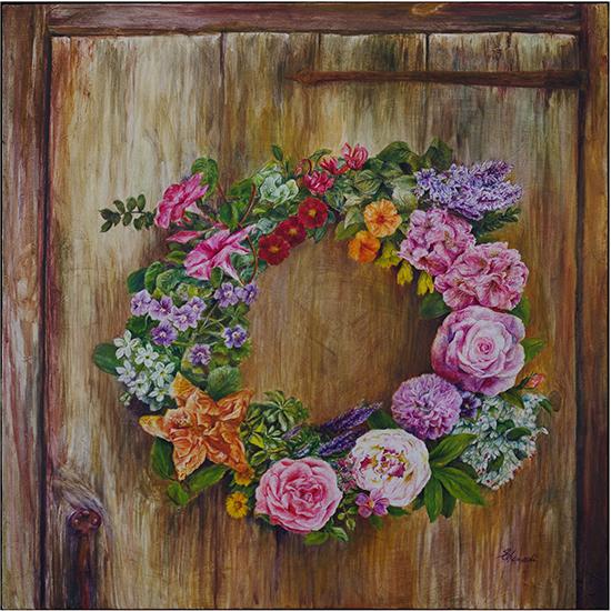 Thankful Wreath (Oil painting)