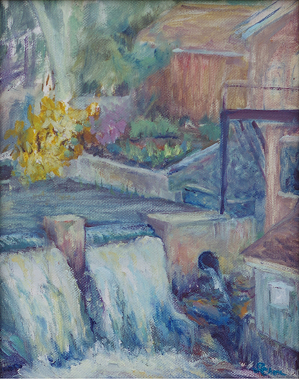 Falls at the Brush Mill (Oil painting)