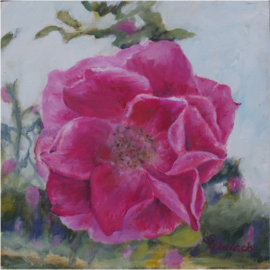 Heritage Rose 4 (Oil painting)